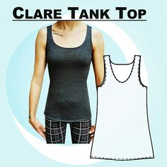 We just love this brand new tank top sewing pattern
