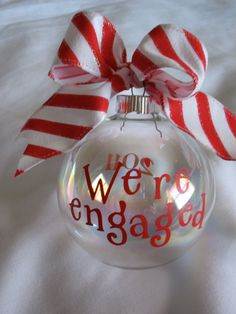 2011 ornament - I need to make one of these... maybe with a fake diamond ring inside!