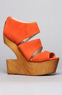 So funky and cute!  The Julia Shoe in Coral Suede by DV8 by Dolce Vita