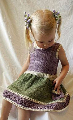 By The Seashore - Knitting Pattern (Beautiful Skills - Crochet Knitting Quilting) Knitting For Kids, Baby Knitting Patterns, Baby Patterns, Knitting Projects, Knit Baby Dress, Knitted Baby Clothes, Crochet Clothes, Knit Or Crochet, Crochet For Kids
