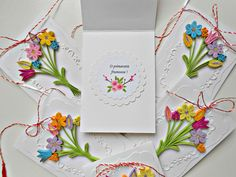 Quilling spring card