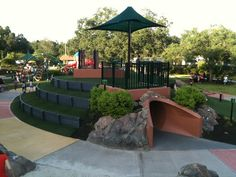 Lakeland, Florida, USA - Common Ground Inclusive Playground.  Our kids enjoyed playing here.  Quite a large city park with lots to do.