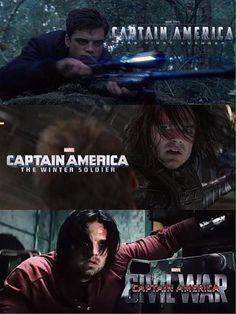 Actually, that last one was in Ant-Man, I don't think he'll be like that in Civil War!<<<< the last one was the end of credits scene which was taken from civil war!