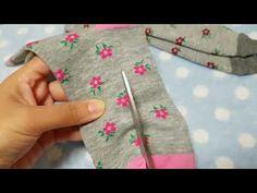 Шьем колготки из носков для кукол часть 1 - YouTube