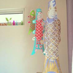 マダムモー/節句/こいのぼり /リビングのインテリア実例 - 2014-04-06 12:42:47 | RoomClip(ルームクリップ) Beautiful Homes, Decoration, Felt, Wall Decor, Summer Dresses, Sewing, Illustration, Crafts, Image