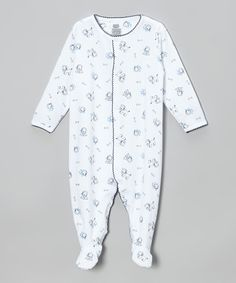 c0ecd02df726bd Look what I found on White & Blue Fido Footie - Infant by Noa Lily