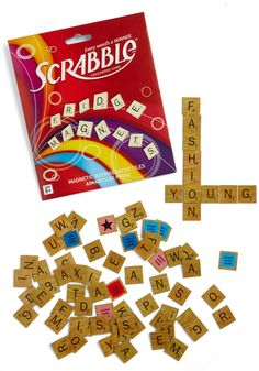 An Easy DIY - Take Scrabble letters and glue magnets from a craft store to the back of them!