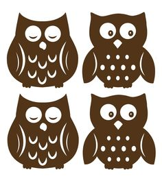 Sleepy owls and wide awake owls are super cute for your childs walls. Make a nursery extra special with these brown silhouette owl decals. Soothe bedtime fears and encourage imagination with these fri