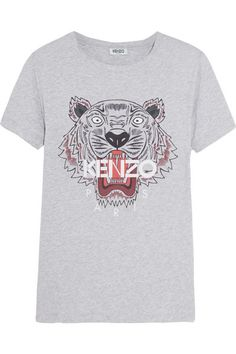 KENZO Printed Cotton-Jersey T-Shirt.  kenzo  cloth  tops Jersey 808a4248992