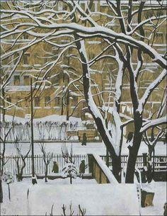 Верейский Георгий. Зимний пейзаж. 1916 +