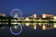 Landscape, Before dawn, Southbank, Brisbane QLD Australia