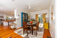 Bright, cheerful kitchen and dining room of 1838 32nd Street