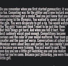Not just with gymnastics this is with any sport