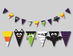 Check out our kids halloween printable decor selection for the very best in unique or custom, handmade pieces from our shops. Deco Haloween, Theme Halloween, Halloween Decorations For Kids, Halloween Crafts For Toddlers, Halloween Party Supplies, Halloween Activities, Holidays Halloween, Halloween Diy, Halloween Printable