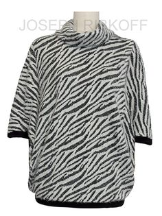 Joseph Ribkoff Animal print top | Black and White.  Available at ASPIRATIONS.