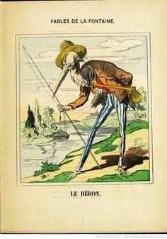 Fables de La Fontaine - Images d'Épinal - Le Héron - BnF