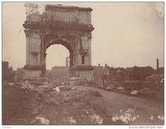 Photo Ancienne 1904 Arc De Titus à  Rome Italie