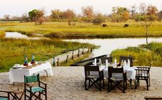 Dining in the bush Okavango Delta, Outdoor Furniture Sets, Outdoor Decor, Safari, To Go, Africa, Canning, Home Decor, Decoration Home