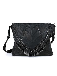 Leather Tassel Across Body Bag | Choies