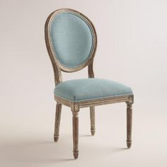 Bring some pastoral French beauty into your formal dining area with the Linon Cannes Round Back Dining Chair - Set of 2 . This set includes two matching. Blue Linens, Reupholster Chair, Chair, Chair Set, Round Back Dining Chairs, Dining Room Chairs Upholstered, Affordable Dining Room, Dining, Upholstered Chairs