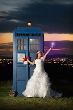 We made a TARDIS for the proposal, the Bridals and the Reception. #CD FRESH Wedding
