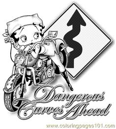 Baby Betty Boop Coloring Pages | free printable coloring page Bettybiker5 (Cartoons > Betty Boop)