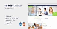Insurance is HTML5, responsive template for Insurance Agents, Agencies and…