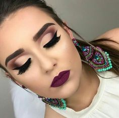 15 Trendy wedding makeup tips maquillaje Glam Makeup, Contour Makeup, Skin Makeup, Eyeshadow Makeup, Bridal Makeup, Eyeshadows, Eyeshadow Palette, Glamorous Makeup, Makeup Eyes