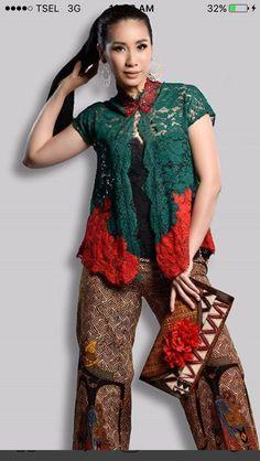 Kebaya Lace, Batik Kebaya, Batik Dress, Lace Dress, Dress Up, Batik Fashion, Ethnic Fashion, Hijab Fashion, Womens Fashion