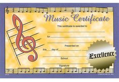 With gold seals. of 28 Music Awards, Seals, Certificate, Presents, Studio, School, Gold, Gifts, Seal