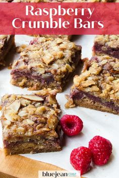Raspberry Crumble Bars are so easy! This recipe uses fresh raspberries and store bought jam for the filling. These raspberry almond fruit squares are extremely versatile. Any combination of fruit and jam can be used to make this dessert, so use what is in season or mix combinations of your favorite fruit. Top it off with the almond and oatmeal crispy topping for a great snack or dessert. Raspberry Crumble Bars, Raspberry Filling, Make Ahead Oatmeal, Brunch Recipes, Dessert Recipes, Recipe Using, Recipe Box, Elegant Desserts, Desert Recipes