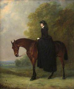 https://flic.kr/p/g9soVf | Henry Calvert - Marianne Brocklehurst on Horseback