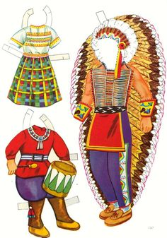 Saalfield Indian Paper Dolls #1367 - Sharon Souter - Picasa Web Albums