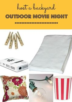 This DIY outdoor movie night is the perfect party idea for kids. Find out out how to pull it off from seating, to screen, to projector, to screen...this post shares it all!