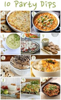 The Fourth of July may be over, but there are still plenty of opportunities to entertain this summer! Whip up one of these party dips at your next get-together. {1} Thats Some Good Cookin Hot Crab Dip {2} Gimme Some Oven Skinny Buffalo Chicken Dip {3} everygoodthing Edamame Dip {4} by ZaraFee