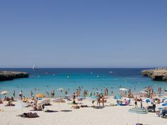 The beautiful Cala'n Bosch Beach, Menorca Cala N Bosch, Places To Travel, Places To Visit, Holiday Resort, Balearic Islands, Majorca, Travel Images, Travel Abroad, Holiday Destinations
