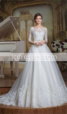 Vintage Princess Lace Wedding Dress Modest Wedding Dresses With Sleeves 2016 Country Western Wedding Dresses Bride Dresses China Wedding Dresses