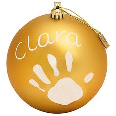 Buy Baby Art Christmas Bauble Kit, Matt Online at johnlewis.com.  I guess this could be done without the kit?!?!