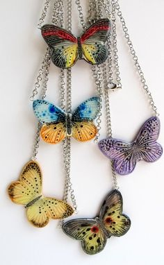Butterflies made with Kato liquid polymer clay