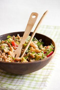 riisi-papusalaatti