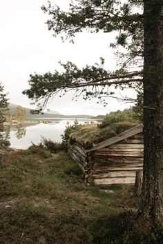 This looks like a picture of one of my family's last homesteads in Norway. Still stands after almost 200 years.