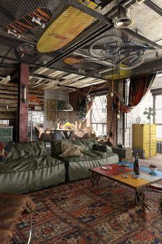 "homedesigning: "" (via 2 Loft Ideas For The Creative Artist) """