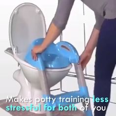 , OFF Potty Toilet Seat with Step Stool Ladder for All Stages Kids Ages , It's very easy to assemble kids potty training seat with ladder. That may be a fun activity for you and your children to install it together. Toilet Training Seat, Potty Training Seats, Toddler Potty Training, Potty Training Videos, Potty Training Rewards, Baby Lernen, Baby Life Hacks, Kids Potty, Potty Chairs For Toddlers