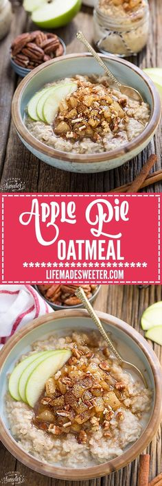 Cinnamon Apple Pie Oatmeal makes the perfect easy breakfast for fall. Best of all, it comes together in no time and is full of cozy fall flavors! It's vegan, gluten free and refined sugar free.