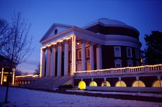 The Rotunda at the University of Virginia, Christmastime.