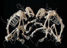 Caitlin McCormack crocheted skeletons