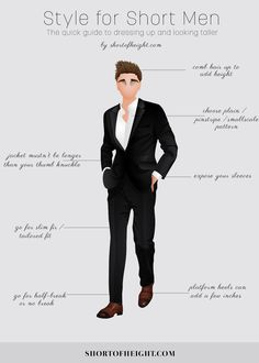 Here's a style for short men infographic to help you be more stylish.