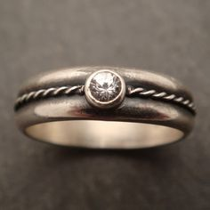 Engagement Ring White Sapphire by DownToTheWireDesigns on Etsy, $150.00
