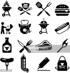 Vector Art : Barbecue Icons - Black Series