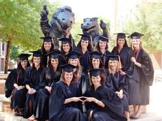 Schedule a PR shot for graduating seniors in caps/gowns in front a university landmark. GREAT photo to have on hand.